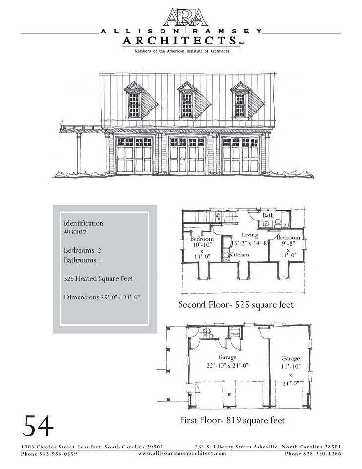 G0027 AllisonRamseyArchitects Garage dimensions, How