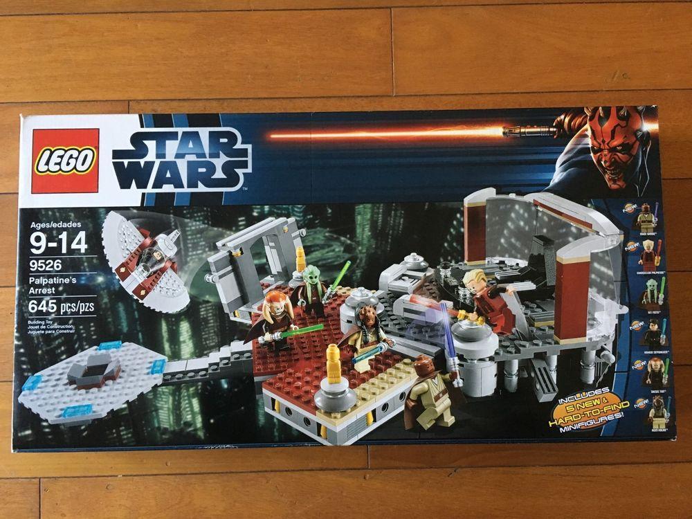 Lego Star Wars 9526 Palpatine S Arrest Sealed Revenge Of The Sith 6 Mini Figures Lego Star Wars Lego Star Lego