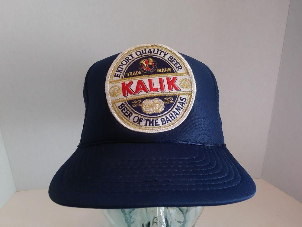cebb23b724c6f VTG Kamik Beer Trucker Hat SnapBack Embroidered Logo Patch Cap Bahamas Mesh  Camp