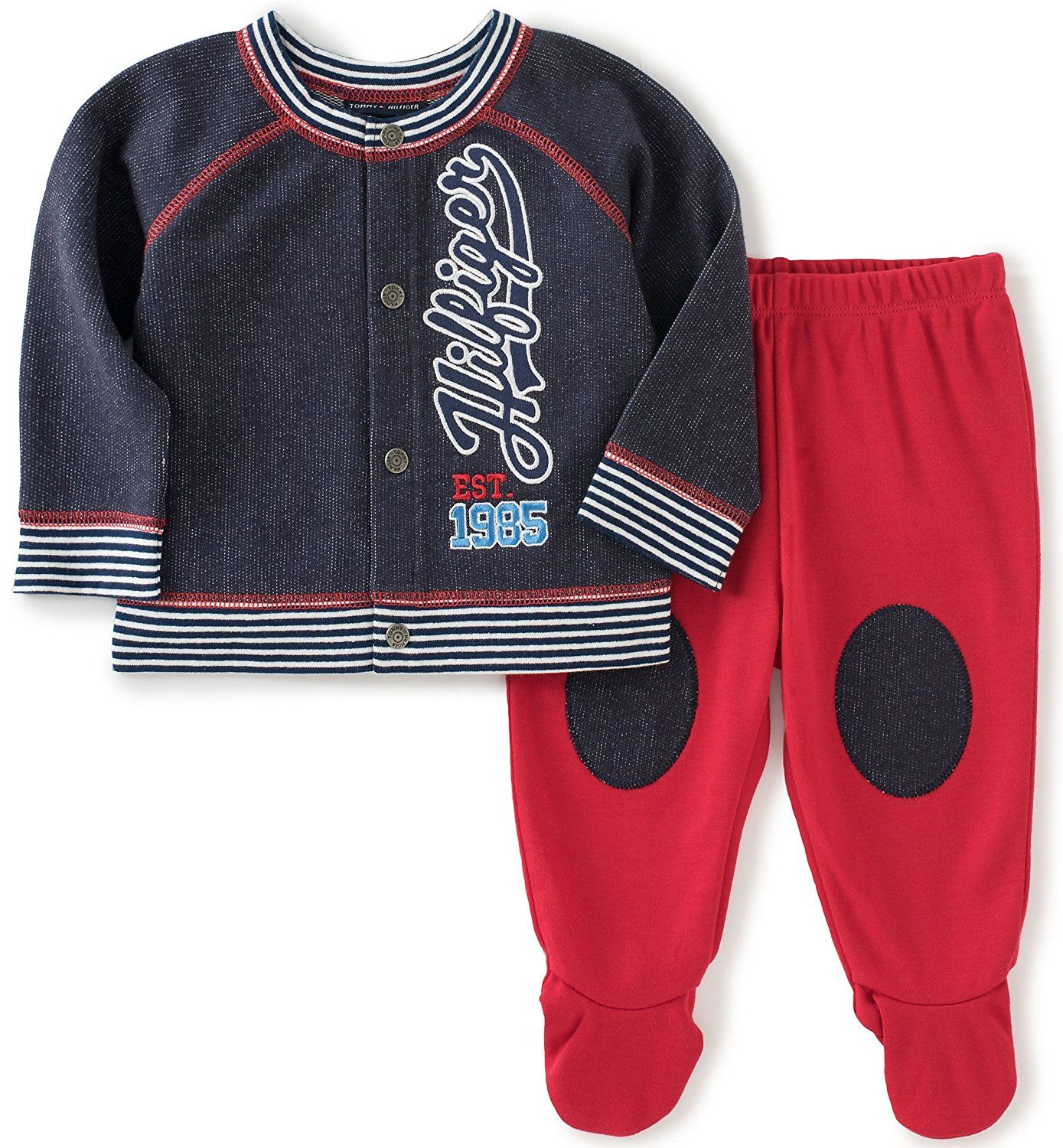 Amazon Tommy Hilfiger Baby Boys 2 Piece Cardigan and Pant Set
