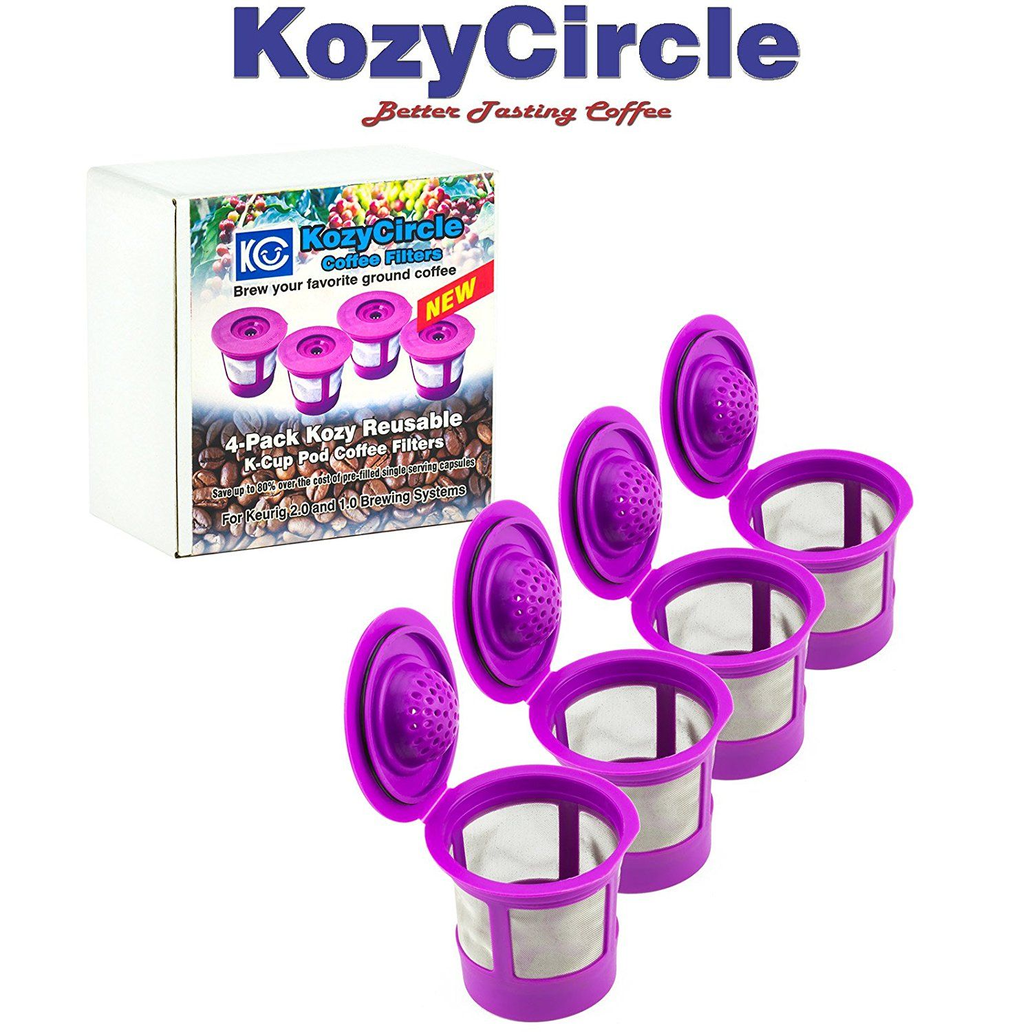 4pack reusable refillable single kcup for keurig 20