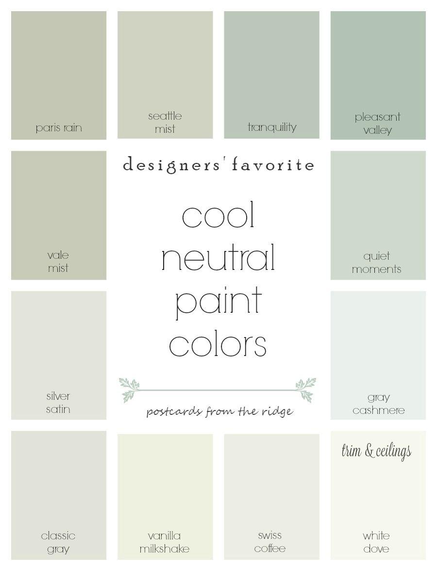 Designers Favorite Cool Neutral Paint Colors Binnenshuise Verfkleuren Woonkamer Kamer En Suite En Slaapkamer Verf Kleuren