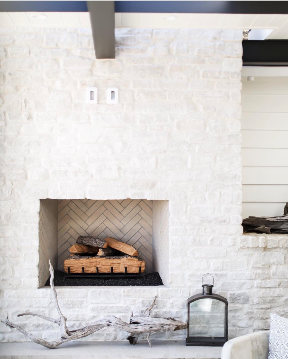 Friday Inspiration Before The Madness With Images Painted Stone Fireplace Stone Fireplace Designs
