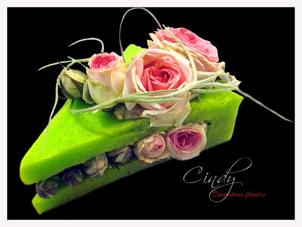 Cindy fleurs g teau flower cake and cone pinterest - Composition florale anniversaire ...