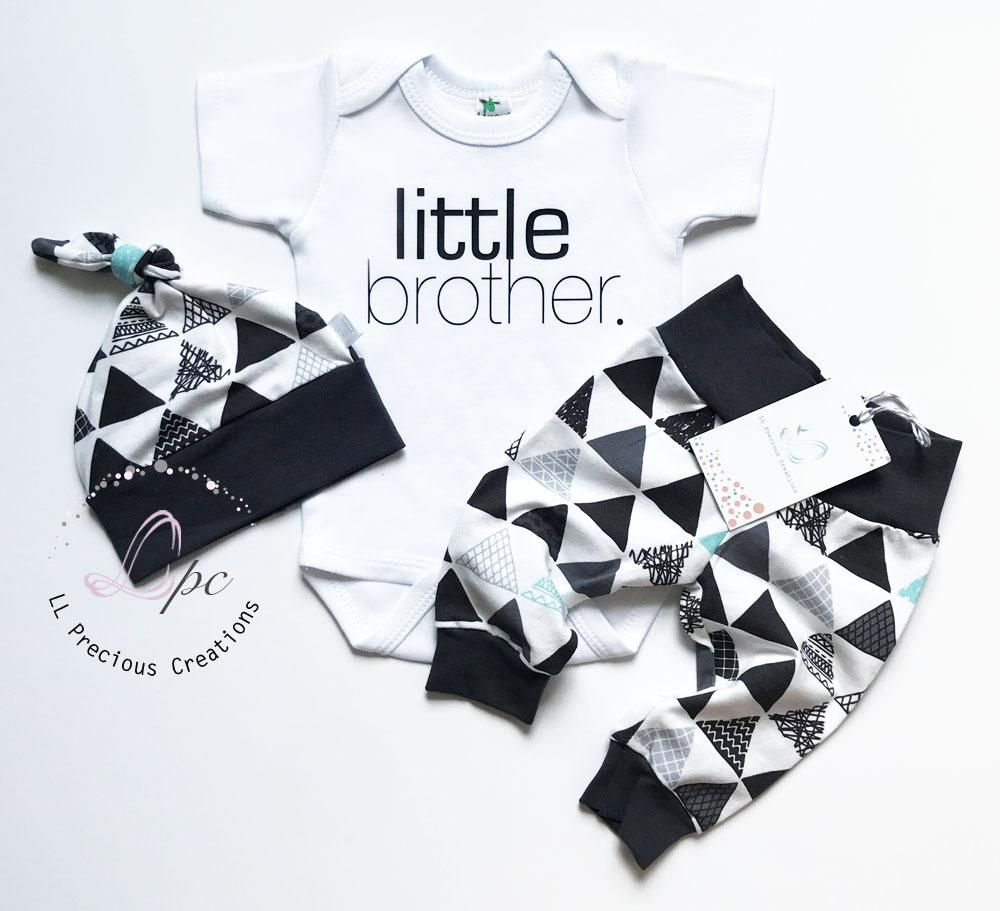 Photo of 3 PCS. LITTLE BROTHER NEWBORN BABY BOY OUTFIT