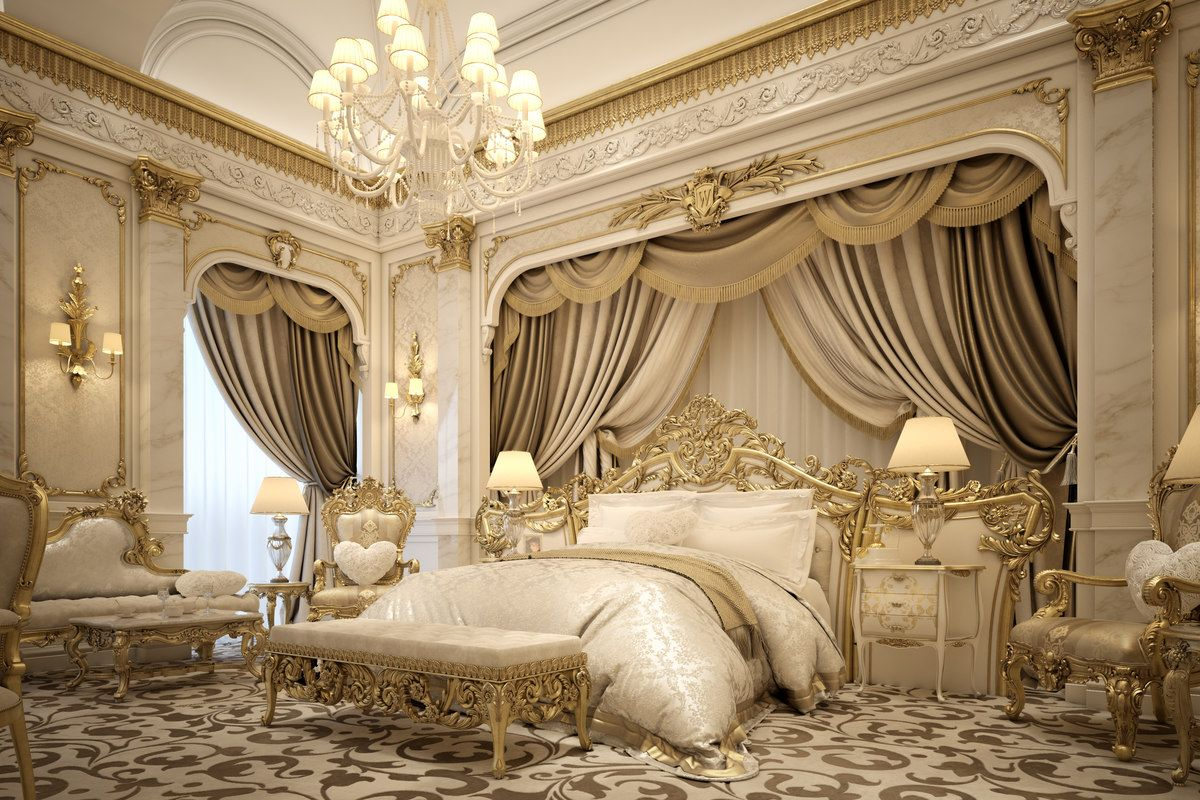 Get Inspired By These Gold And Royal Bedrooms For Your Master Decoration Gold Royal Bedroomdecoration Go Luxury Bedroom Master Royal Bedroom Fancy Bedroom Luxury master bedroom photo