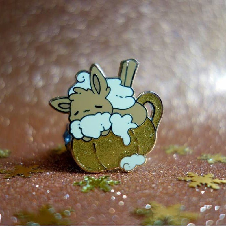 Pumpkin Spice Eevee Pin made by Xhilyn - #aesthetic #anime #art #autumn #cartoons #cute #eevee #fall #gameboy #games #gaming #gifts #go #halloween #illustration #japan #kawaii #let's #merch #monsters #nintendo #october #pin #pins #pocket #pokemon #pumpkin #retrogaming #spice #switch #video