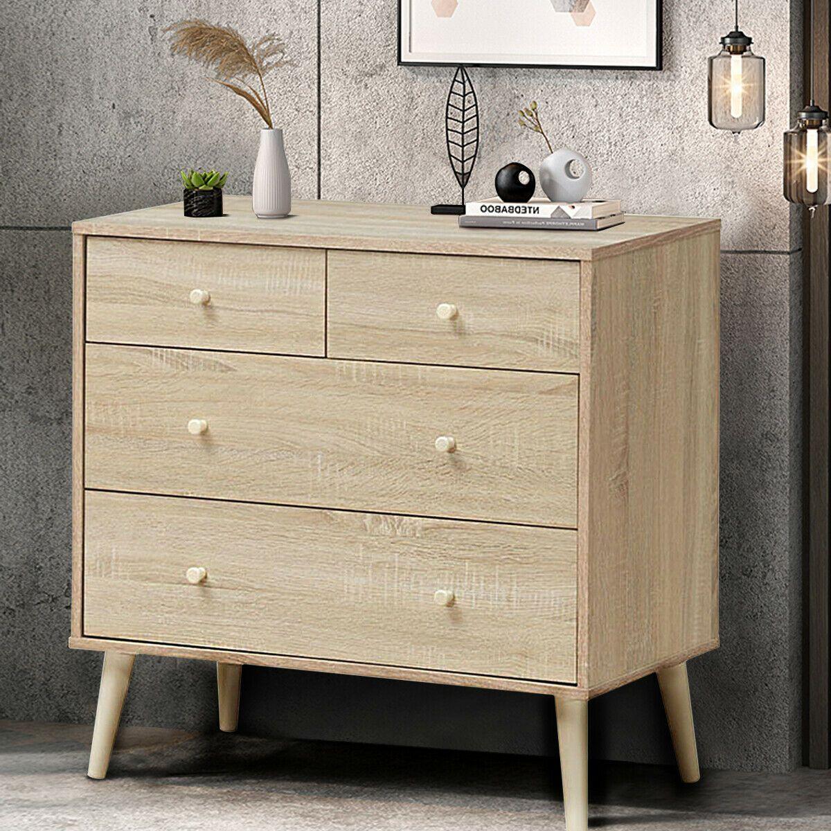 4 Drawer Dresser Cabinet Storage Organizer Rubber Leg With Rail In 2020 Storage Cabinets 4 Drawer Dresser Dresser Drawers