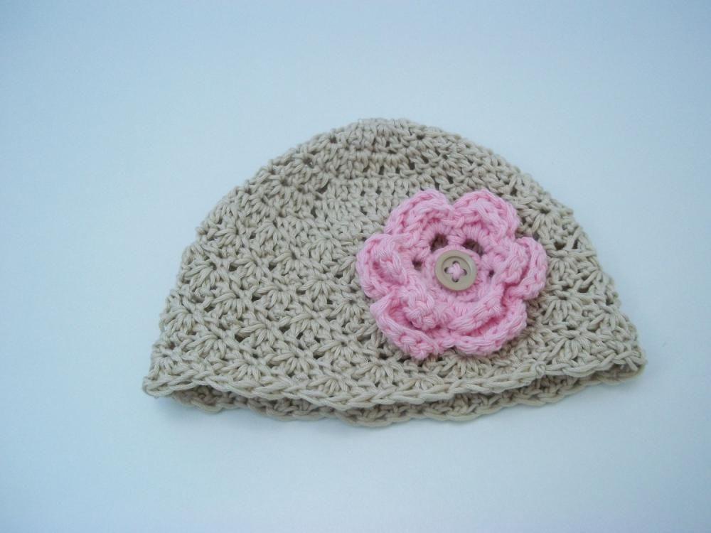 Crochet baby hat - Baby girl hat - Newborn baby hat - Organic cotton ...