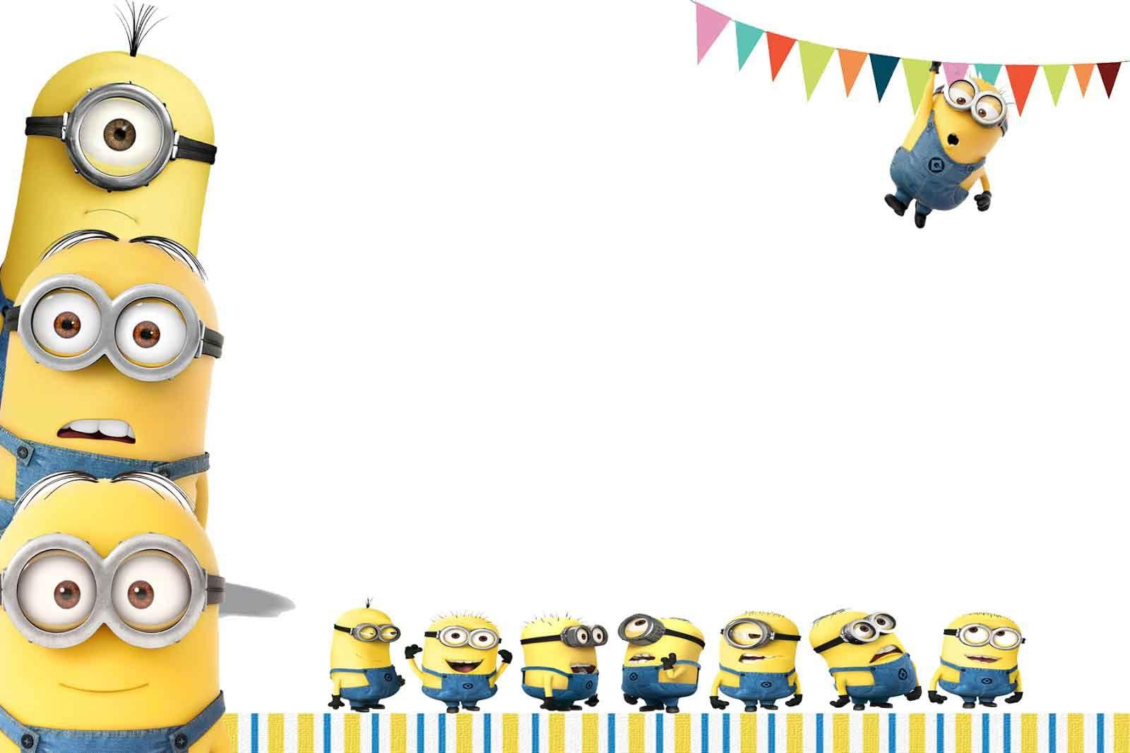 Hasil Gambar Untuk Minions Wallpaper Klas Inspirasie Minion Birthday Invitations Birthday