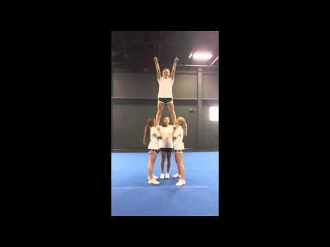 (2) Advanced Cheerleading Stunt Progression: Cradle - YouTube #cheerleadingstunting (2) Advanced Cheerleading Stunt Progression: Cradle - YouTube #cheerleadingstunting