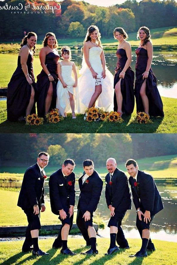 20 Funny Wedding Photo Ideas With Your Bridesmaids And Groomsmen | Roses & Rings