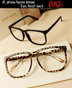 b1061b4cb8 Big Oversized Tortoise Shell Retro Nerd Geek Clear Lens Plain ...
