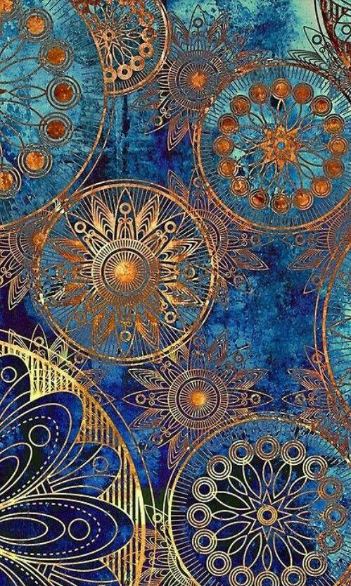 Oriental Wonderful Love Wheels Mandala Art Abstract Art Design