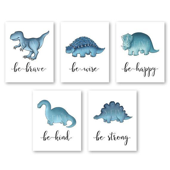 Dinosaur Nursery Art Dinosaur Prints Wall Art Baby Boy Bedroom Decor Nursery Art Dinosaur Art Dinosaur Nursery Print Dinosaur Bedroom Decor #dinosaurnursery