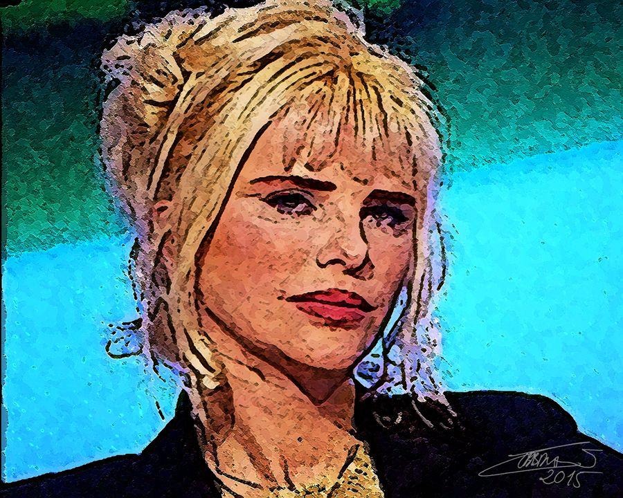 Iliona Staler. Más conocida como Cicciolina. Italiana de origen húngaro. 2015. Luis Cebrián. 60x44cm. Pintura digital sobre lienzo.