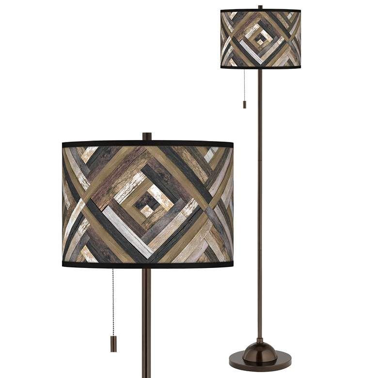 Woodwork Diamonds Giclee Glow Bronze Club Floor Lamp 68x36 Lamps Plus Floor Lamp Retro