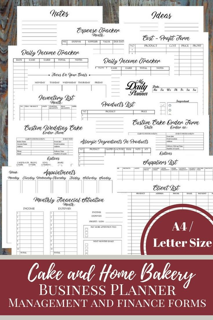 Excited To Share The Latest Addition To My Etsy Shop Cake And Bakery Business Planner Financial And Man Bakery Business Home Bakery Business Cookie Business