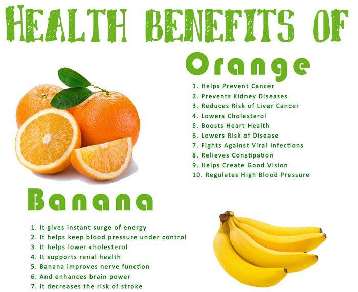 Benefits of Banana and #Oranges #Fruits #Health ...