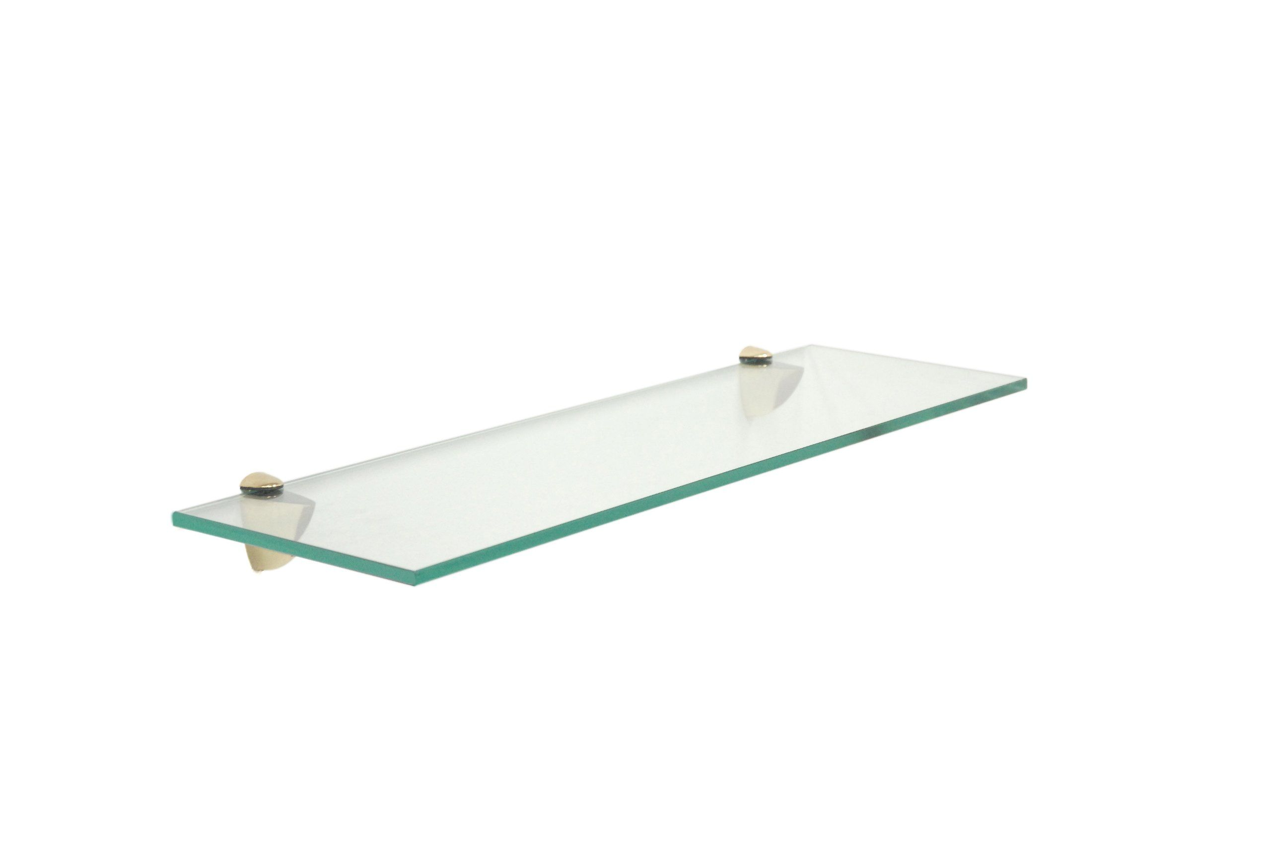 Amazon Com Floating Glass Bathroom Shelf Finish Chrome Size 30 W X 6 D Floating Shelves 4 Glass Bathroom Shelves Glass Shelves Floating Glass Shelves