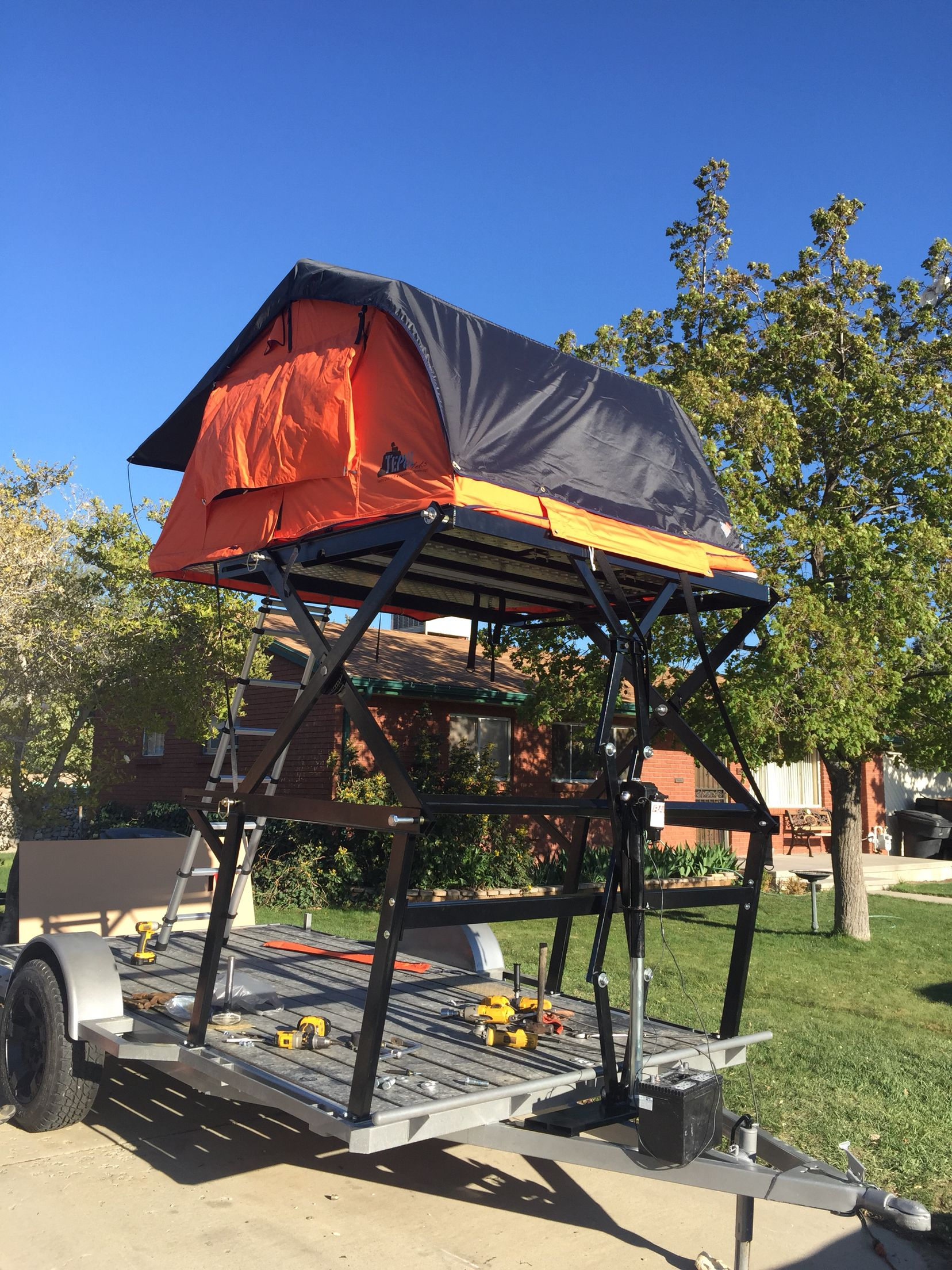 Custom Insane Trailer With Tepui Tent Project 2015 Roof