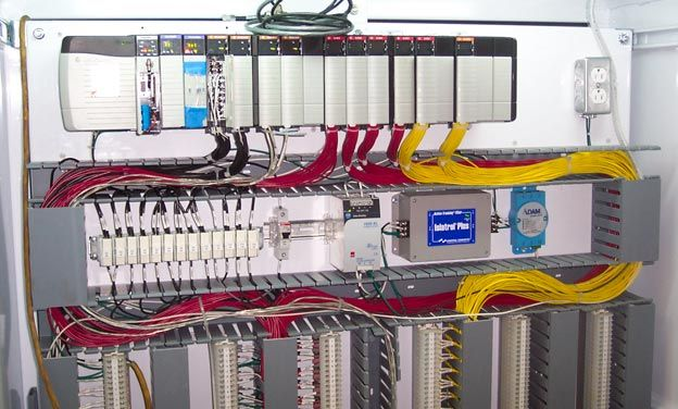 Plcs hardwired in panelboard curtesy of richmond engineering works the ladder diagram has and continues to be the traditional way of representing electrical sequences of operations asfbconference2016 Choice Image