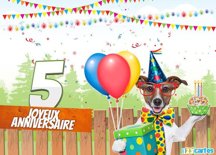 Carte Anniversaire Happy Dog 5 Ans 123 Cartes Carte Anniversaire Carte Joyeux Anniversaire Carte D Anniversaire Pokemon