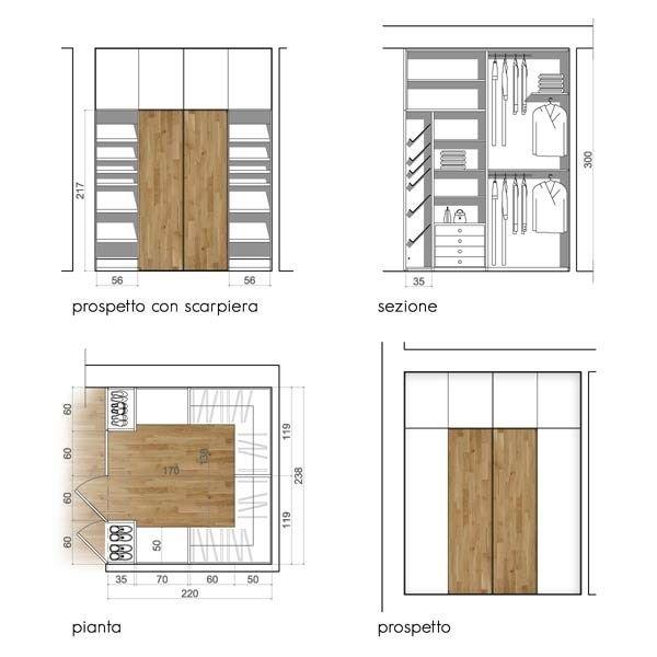 Progetto cabina armadio cabine armadio e letti - Scaffali per cabine armadio ...