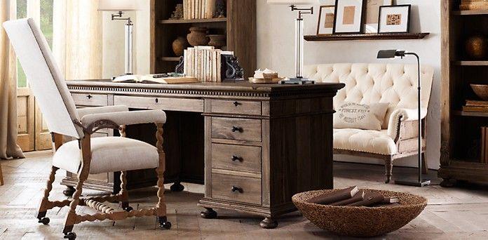 St James Desk Restoration Hardware Desk Lvseat Bkcases Home Office Home Office Furniture Home