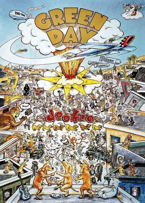Dookie Of Green Day Green Day Poster Green Day Dookie Rock Band Posters