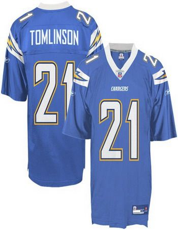 9dae957b6ea L.Tomlinson Jersey, #21 San Diego Chargers Authentic NFL Jersey in Light  Blue ID:4803 $20