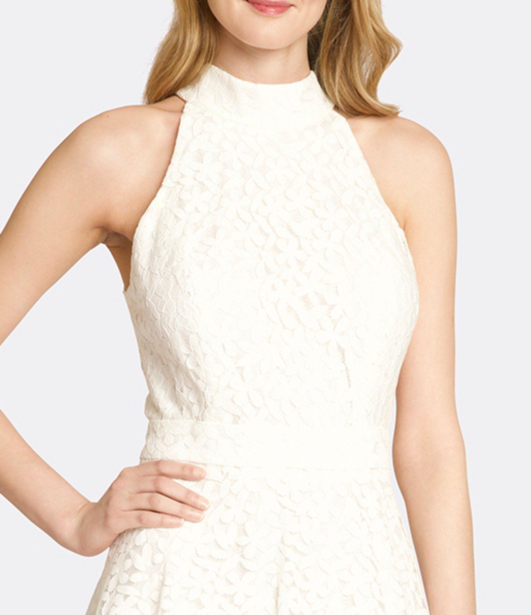 Tahari Asl Mock Neck Sleeveless Lace Fit Flare Midi Dress Dillards Fit Flare Little White Dresses Midi Dress [ 2040 x 1760 Pixel ]