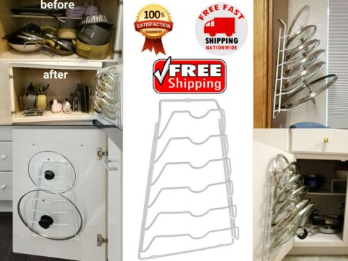 Door Mounted Pot Lid Kitchen Organizer Rack Cabinet Container Lid Storage Rack | eBay #doormounted #potlid #kitchenorganizer #organizerrack #cabinetcontainer #lidstorage #storagerack        #organizeitall #sturdy #heavyweightmetal #holdupto #homecabinet #floorspace #metalframe #cookware  #cookwareorganizer