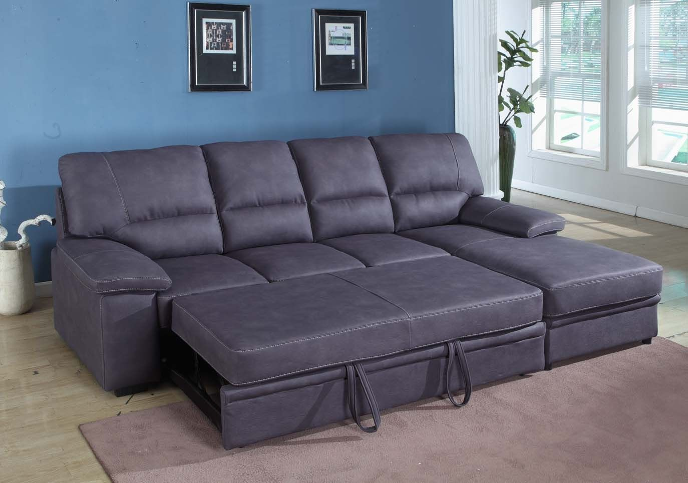 Oversized Leather Sleeper Sofa