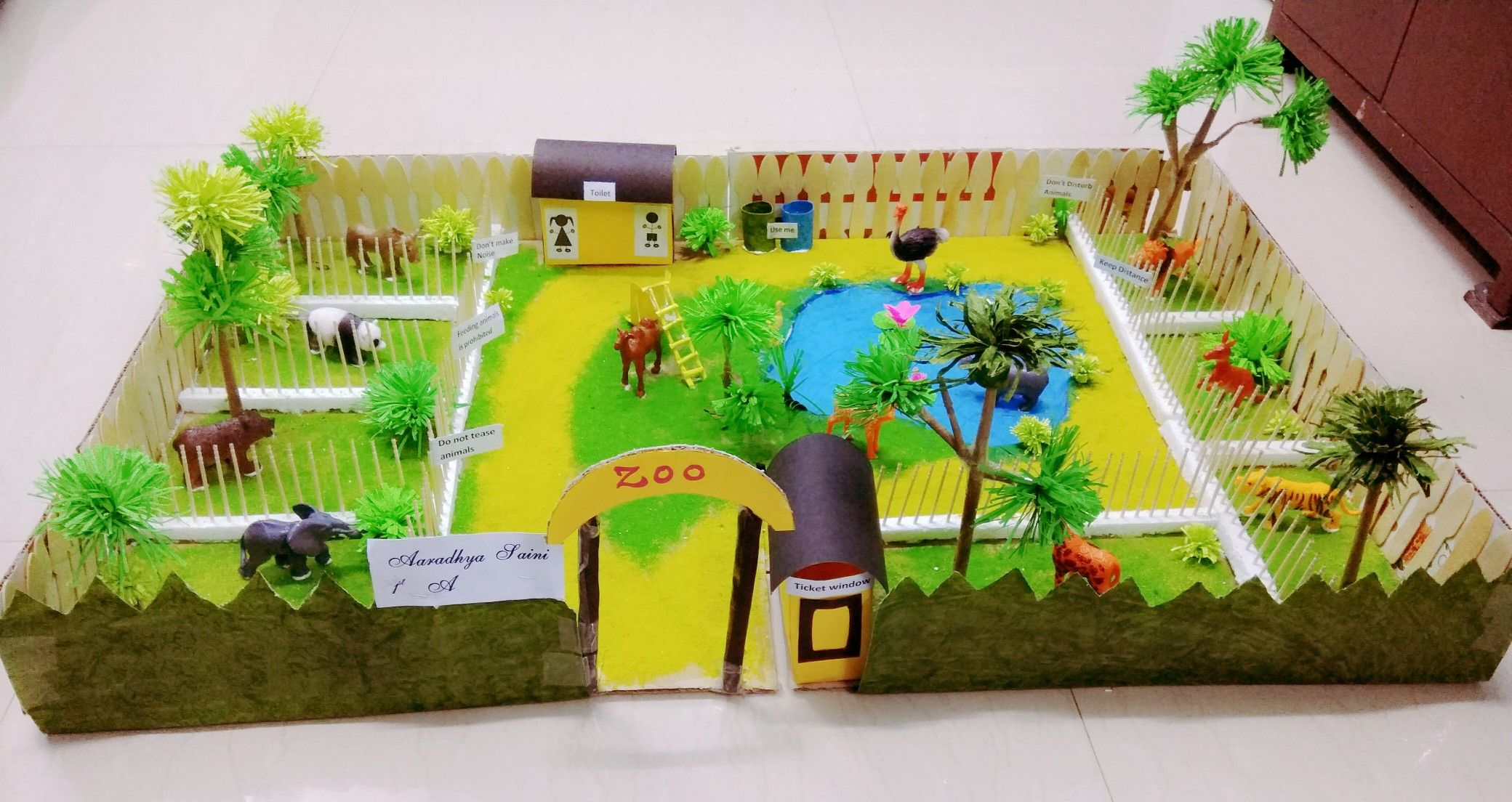 Zoo Model School Project (With images) | Kids zoo, Zoo ...