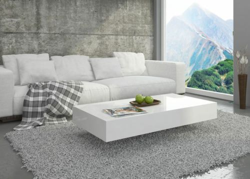 Modern Coffee Table Pixel High Gloss White Or Black White Coffee