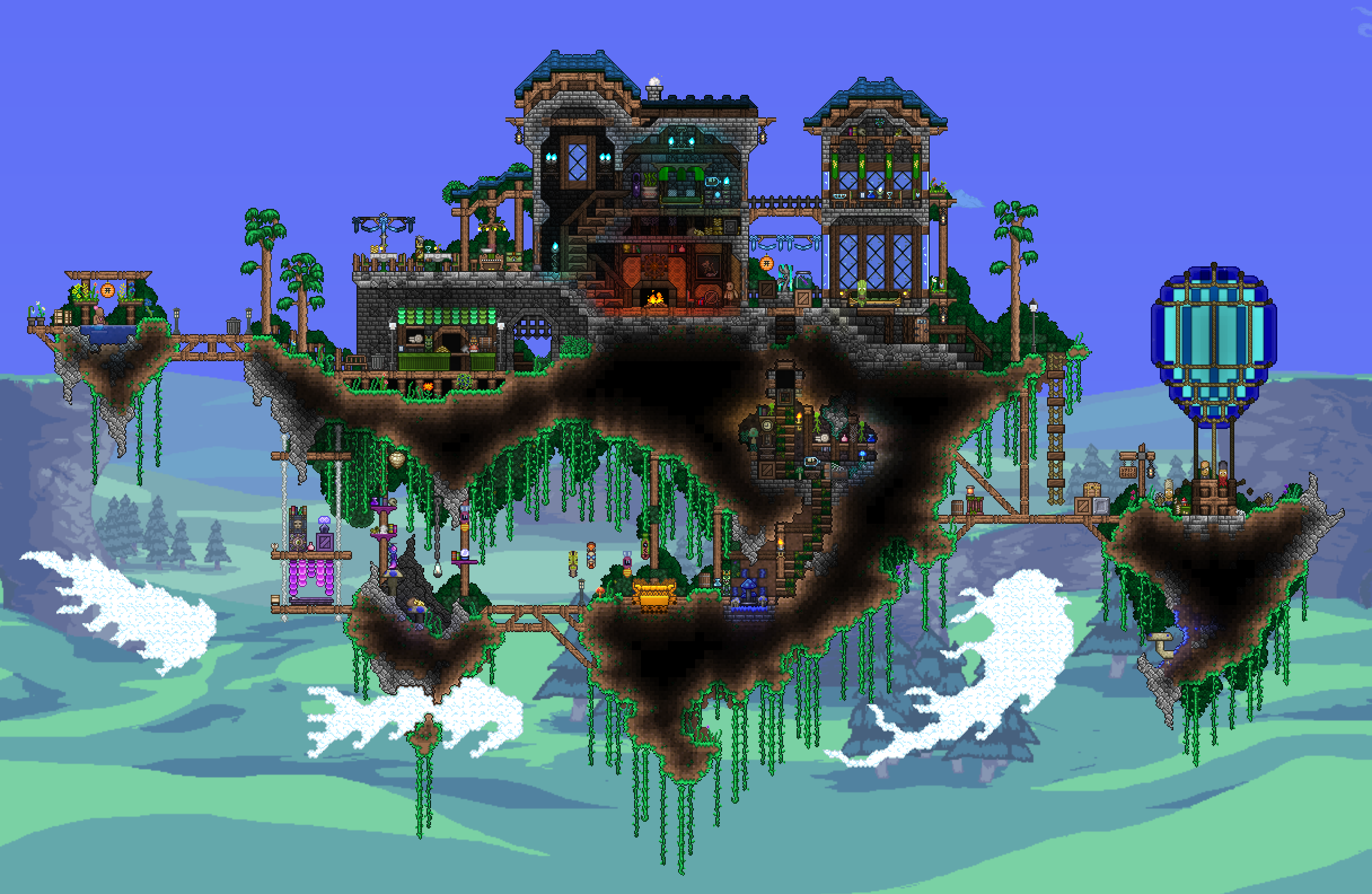 Floating Manor Terraria Looks Like It Was Heavily Inspired By