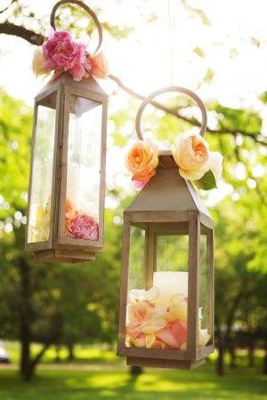 Peach Garden Wedding Inspiration | Hanging lanterns, Lanterns decor ...