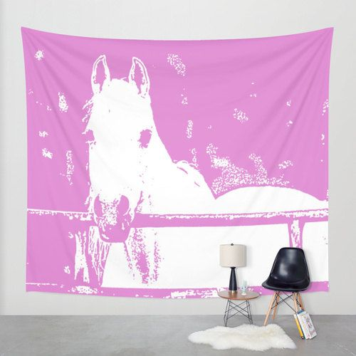White Horse, Wall Tapestry by B2Bdesigns on Etsy