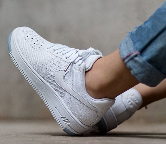 1d99c85f2981 Nike Men Air Force 1 Low Ultra Flyknit White White Ice