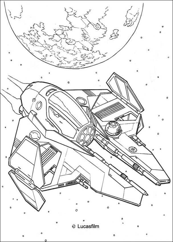 Spaceship of Anakin coloring page More Star Wars content on - best of star wars coloring pages the force awakens