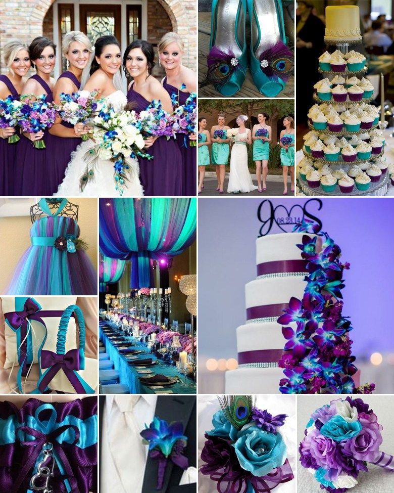 Plum And Turquoise Weddings