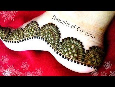 Mehndi Designs Legs Simple : Leg mehndi designs simple easy henna patterns
