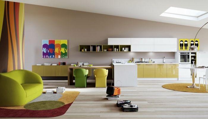 1001 conseils et id es pour une cuisine ouverte sur le salon design d int rieur interieur. Black Bedroom Furniture Sets. Home Design Ideas