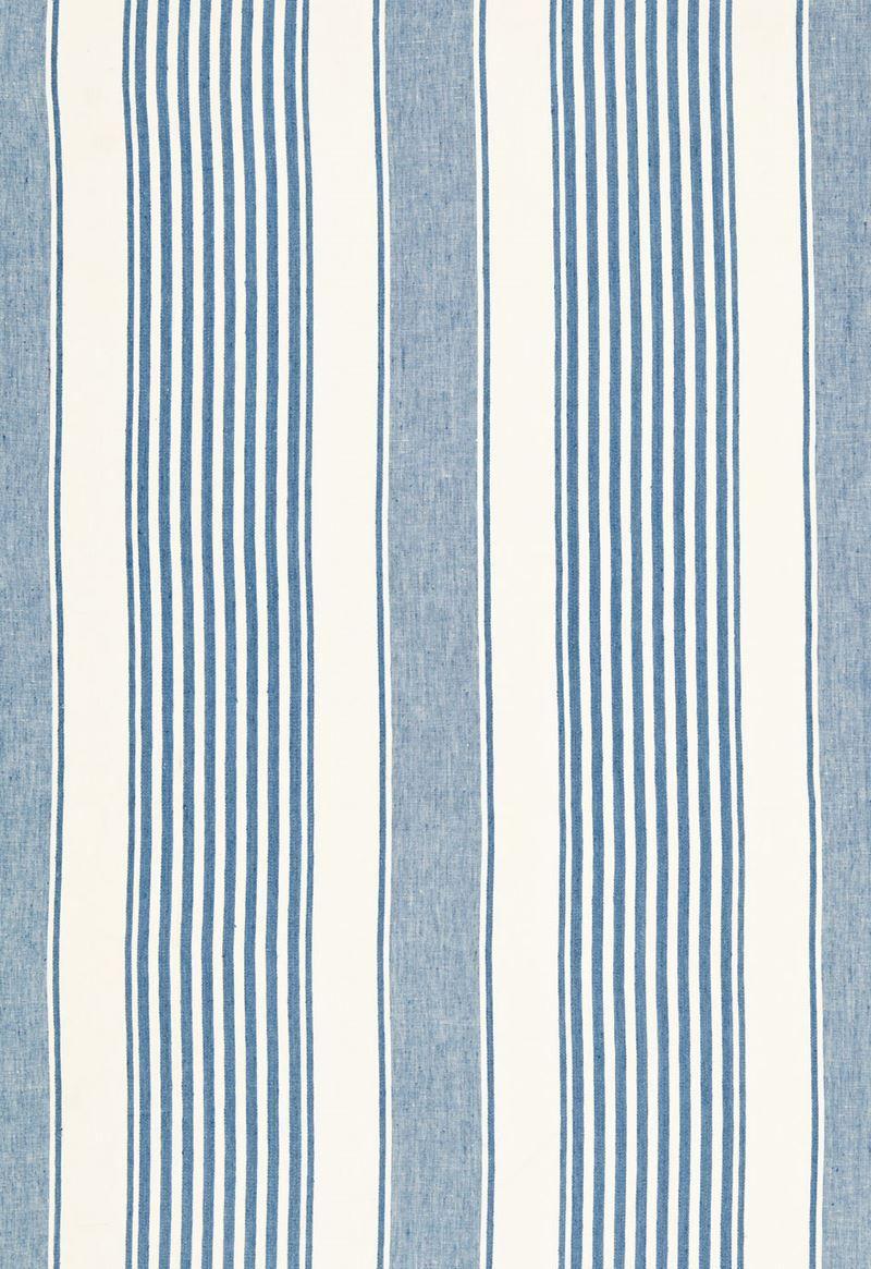 66090 Summerville Linen Stripe Ocean by Schumacher