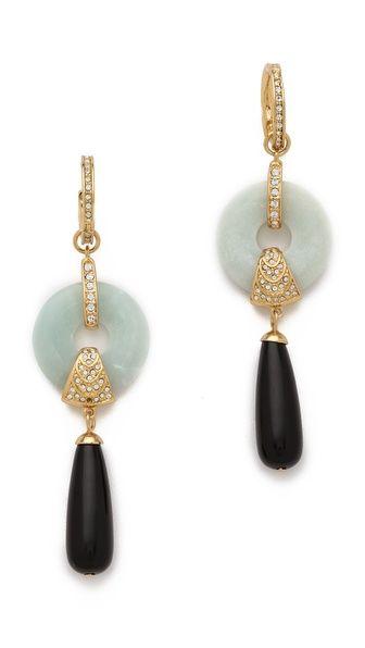 Rachel Zoe Amazonite Drop Earrings, $250 #springjewelry