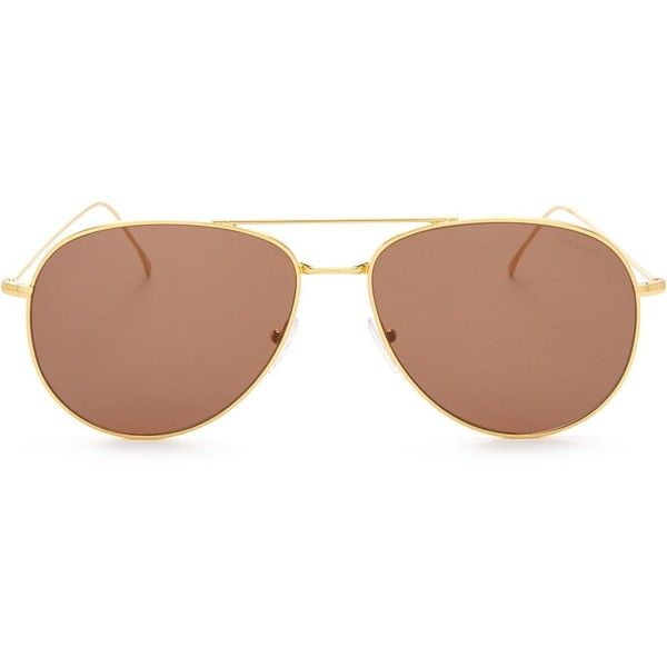 Illesteva Linate Oversized Aviator Sunglasses, 61mm ( 200) ❤ liked on  Polyvore featuring accessories 6829debff7