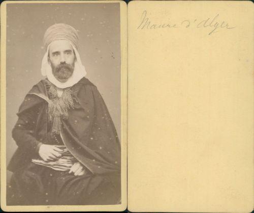 Algérie, Alger maure vintage CDV albumen carte de visite CDV, tirage albuminé,