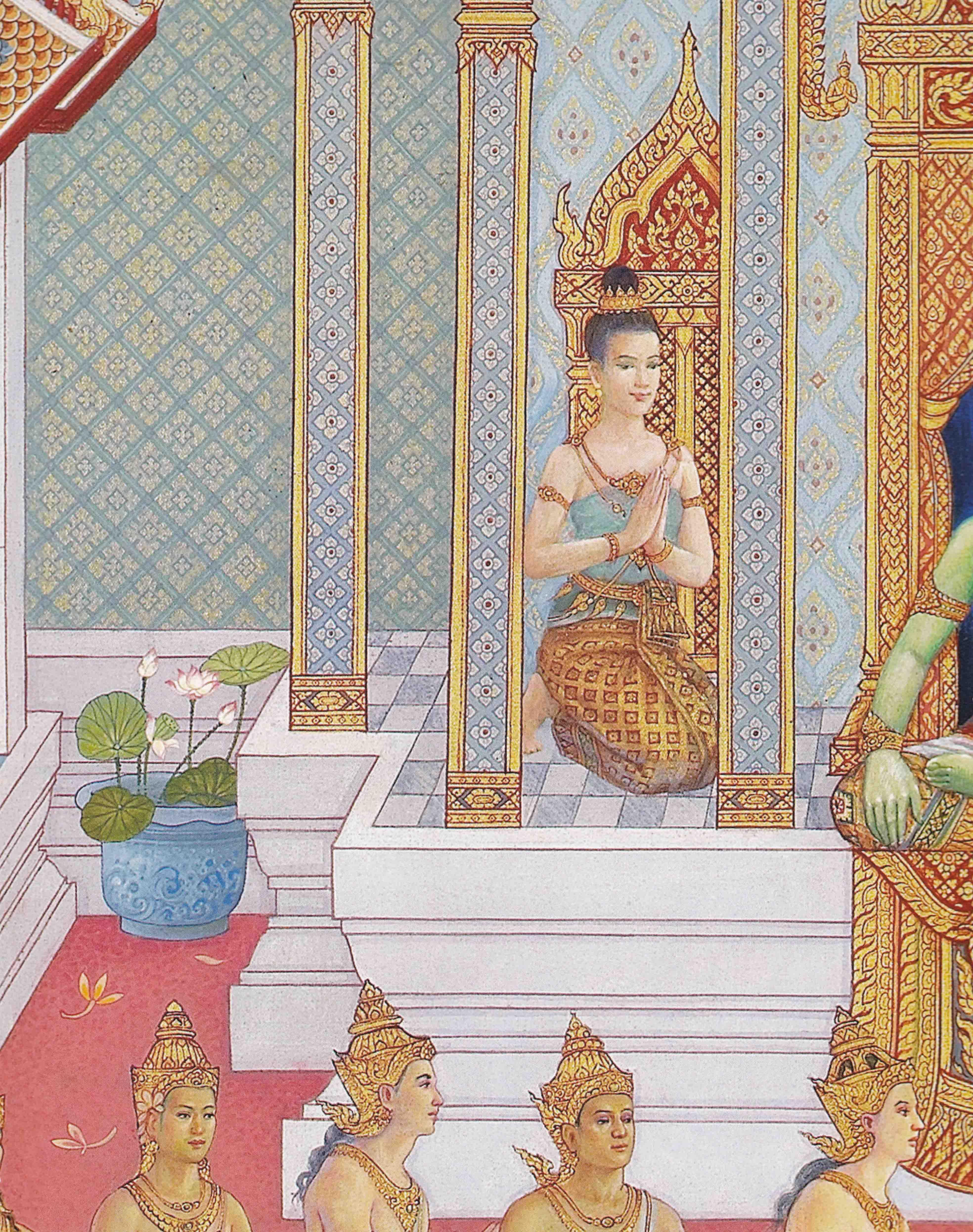 นางส ชาดา ท มาร ป หน งส อไตรภ ม กถา ฉบ บร ชกาลท 9 โปรเจกต ศ ลปะ ศ ลปะไทย ศ ลปะ