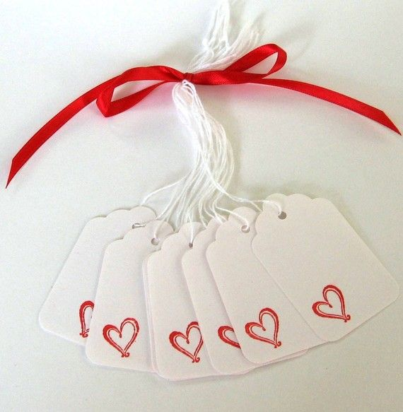 10 Red Heart Tags These whimsical red heart tags are great for gift tags, price tags, wine bottles, labels, scrapbooking, gifts with purchase,